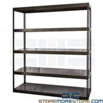 Industrial Heavy-Duty Shelving Solid Metal Decks