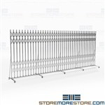 Portable Folding Gates Hallway Traffic Control, Hallowell Superior pressure fit gates, Hallway security barrier gates, collapsible,