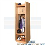 Wood Baseball Lockers Hanging Team Uniform Storage