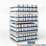"Hallowell Storage Racks for 24"" Long File Boxes"