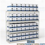 Hallowell Wide Storage Racks for Storing Archive File Boxes