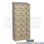 Box Lockers with Sloped Tops