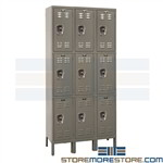 Steel Triple-Tier Assembled Lockers
