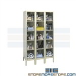 Five-tier clear door box lockers, Safety-view five-tier lockers, Cubby lockers with see through doors, Box lockers with transparent doors, Safety-view lockers, Lockers with clear doors