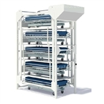 High capacity Hospital Bed Storage Racks provides a place for storing hospital beds when they are waiting repairs and maintenance, also serves as a lift for biomedical techs repairing under the bed