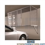 Wire Parking Garage Storage Cage Locker Wall Mounted Over Car Condo Apartment