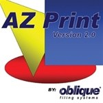 Oblique Az Print Version 2 Software for Printing Index Labels, #SMS-42-AZPRINT