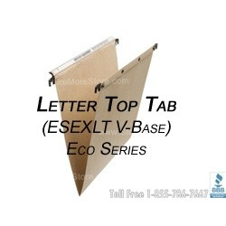 Oblique ESEXLT V-Base Letter Size Top Tab file fodlers for filing cabinets and pedestals