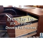 Oblique EXLT V-Base Letter Size Executive File Folder Compartments for filing cabinets