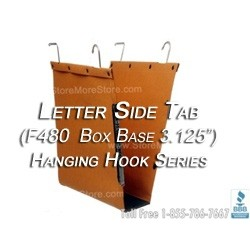 Oblique F480 Box Bottom Hanging File Folder Compartments, Letter Depth folders for shelving with hanging rods