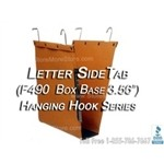 "Oblique F490 letter size hanging file folder 3.56"" Box Base, folders have hooks and hang on shelving rods"