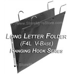 Oblique F4L V-Base Long Letter Size Hanging File Folder Compartments that hang from rods on shelving units