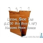 Oblique LC30 Box Bottom Hanging File Folder Compartments, Legal Depth for storing file folders on hanging shelving rods