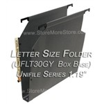 Oblique UFLT30GY Unifile Letter Size Box Bottom Hanging Compartments,