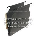 Oblique UFLT50GY Unifile Letter Size Box Bottom Hanging Compartments,