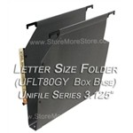 Oblique UFLT80GY Unifile Letter Size Box Bottom Hanging Compartments Unifile UF80LT
