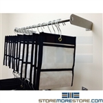 Hanging gun bag racks for property and evidence room storage and organization. All bags come with hooks.