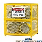 propane cylinder storage cabinet, wire mesh locking unit tanks durham, egcvc4-50