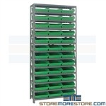 Parts Bins Storage Shelving Small Inventory Racks 36x12x75 Quantum 1275-109