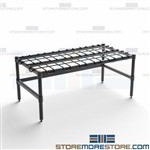Stationary Dunnage Rack Wire Modular Stand Quantum 183614DE Plastic Food Buckets