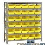 Counter Shelving Bins Steel Racks Small Parts Hanging Bins Quantum 1839-104