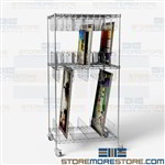 Art Painting Shelving Cart Framed Artwork Rolling Storage Rack with Wheels Wire