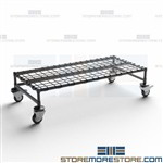 Rolling Wire Dunnage Platform Easy Clean Hospital Stockrooms Quantum M24486DE