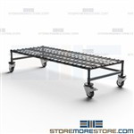 Mobile Dunnage Rack Transporting Case Goods Floor Stand Storage Quantum M24606DE
