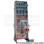 Small Parts Bin Stand Maintenance Hardware Storage Mobile Quantum QFS270-72
