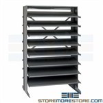 Steel Shelving Angled Shelves Quantum QPRD-000 Without Plastic Bins Racks Only