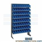 Storage Bin Shelving System Sloped Small Parts Picking Rack Quantum QPRS-101