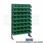 Storage Bin Rack System Tilted Steel Shelves Pick Small Parts Quantum QPRS-102