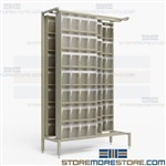 Clear Tip Out Bins Sliding Cabinets Organizes Small Tiny Parts Quantum QS-304-28