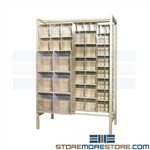Parts Slider Bins Storage Cabinet Inventory Organize Supplies Quantum QS-BIG-101