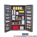 Metal Cabinet Storage in Doors Spray Cans Supplies Parts Quantum QSC-4IS-14DS