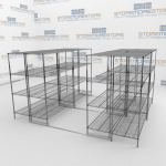 Hi-Density Wire Shelves and High Capacity Wire Rack