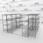 High Density Wire Racks Shelving and Rolling Mobile Aisle Wire Rack