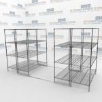 High Density Wire Shelving Racks and Food Service Wire Racks
