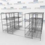 Rolling Wire Rack and Hospital Supply File Shelving
