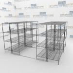 Mobile Wire Rack and Condensed Wire Shelving System