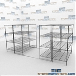 Wire Storage Shelves on Rails and Wire Racking
