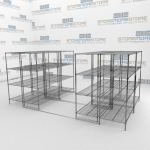Wire Shelving on Rails and Chrome Wire Shelving Units