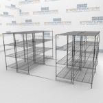 Sliding Wire Shelves and Chrome Wire Shelves