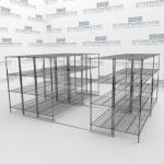 Rolling High Density Wire Shelving and Rolling Wire Rack Storage