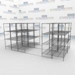 Gliding Hi-Density Wire Racks and Rolling Wire Shelves