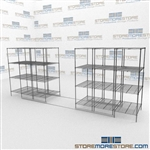 Moving Steel Wire Shelves and Ada Gliding Wire Shelf