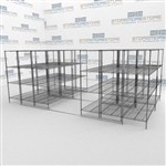 Surgical Suite Wire Track Shelving Rolling Racks Condense Storage Space