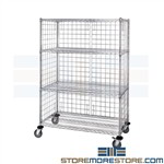 Rolling Cart Wire Shelving