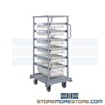 Transport cart with basket drawers