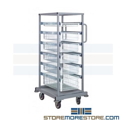 A Shelf 58 15c 5 Chrome Pull Out Basket: Wire Basket Drawer Shelving Carts Wheels Slide Out